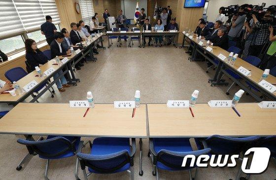 [사진]근로자없이 열린 최저임금위원회 전원회의