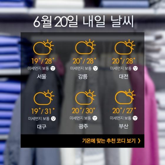[내일뭐입지?] 덥고 습한 날씨엔 '민소매' 패션