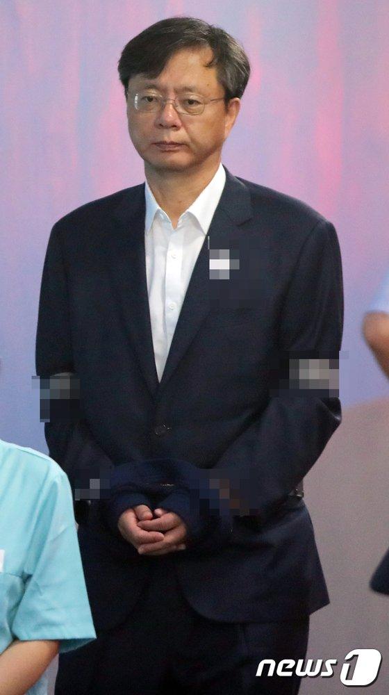 [사진]법정으로 향하는 우병우 전 민정수석
