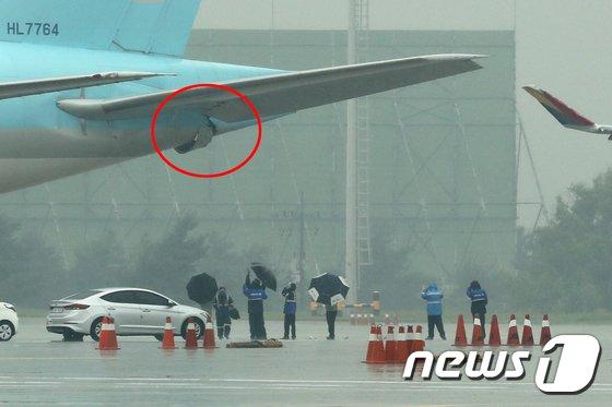 [사진]'여객기 접촉사고 현장조사'