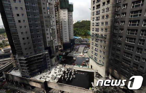 [사진]검게 변한 세종시 주상복합 아파트