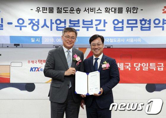 [사진]우정사업본부-한국철도공사, 우편물 철도운송 협약