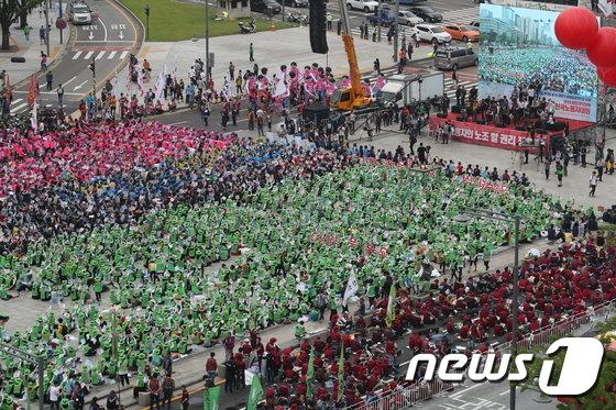 [사진]광화문광장 전국노동자 대회