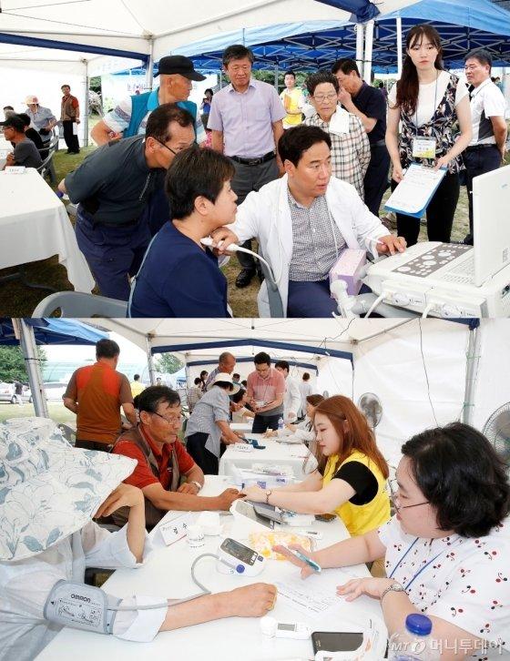 농촌진흥청이 지난 달 30일 충남 논산에서 '이동식 농업종합병원' 봉사활동을 펼쳐 지역 주민들의 큰 호응을 얻었다.