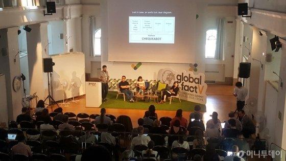 전세계 팩트체커들의 글로벌 컨퍼런스인 '글로벌 팩트V'가 이탈리아 로마 세인트스테판스쿨에서 6월20~22일 열렸다. 전세계 56개국 225명이 참석하는 등 성황리에 진행됐다./사진= 정진우 기자