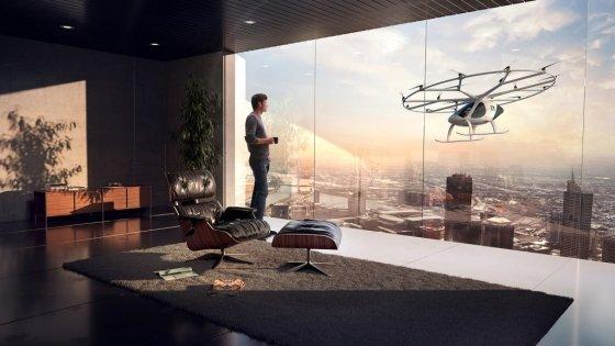 독일 볼로콥터가 개발한 2인승 플라잉카(VC200). 다임러와 인텔 등이 총 3000만 달러를 투자해 주목을 받았다. /사진제공=볼로콥터.
