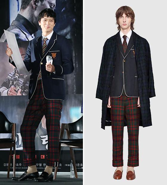 (왼쪽)배우 강동원 /사진=뉴스1, 구찌