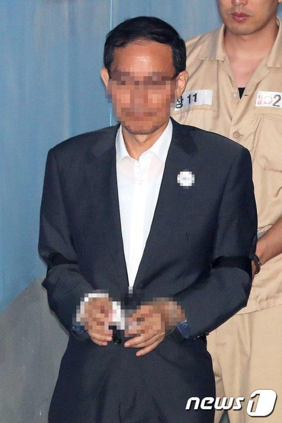 [사진]법정 향하는 '드루킹' 최측근 도 변호사