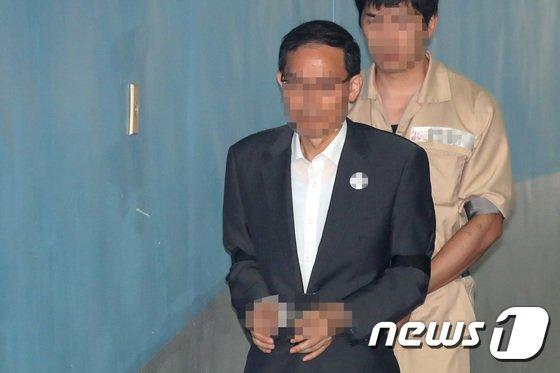 [사진]구속전피의자심문 출석하는 '드루킹' 최측근 도 변호사