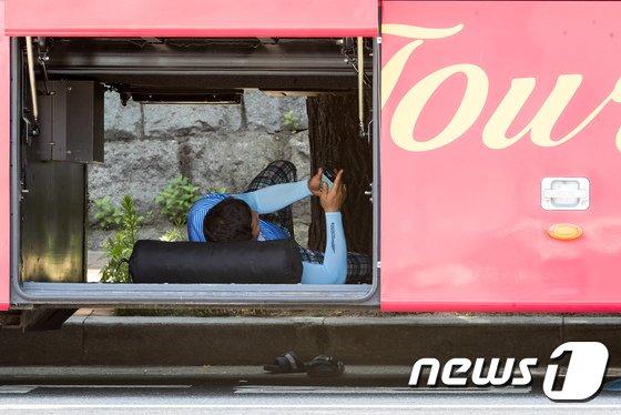 [사진]버스기사님들의 피서법
