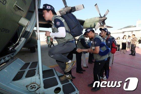 [사진]라오스로 향하는 대한민국긴급구호대