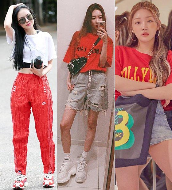 그룹 에이핑크 손나은, 가수 선미, 청하/사진=머니투데이 DB, 선미 인스타그램, 코오롱