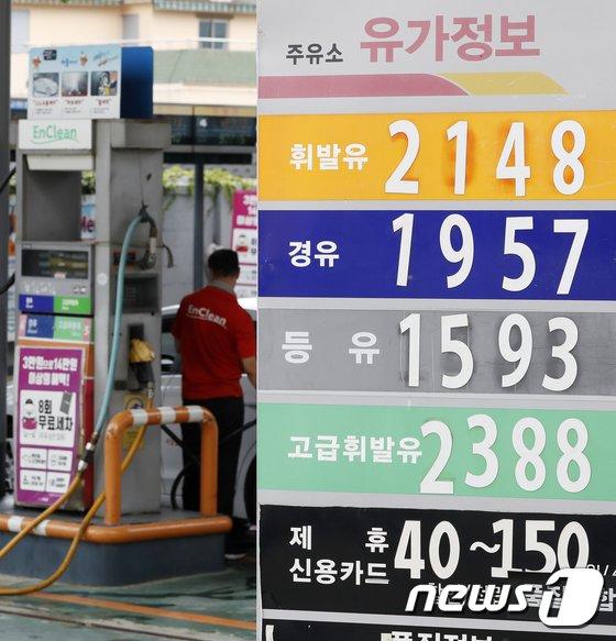 [사진]휘발유 1,700원 돌파 '2015년 이후 최고 수준'