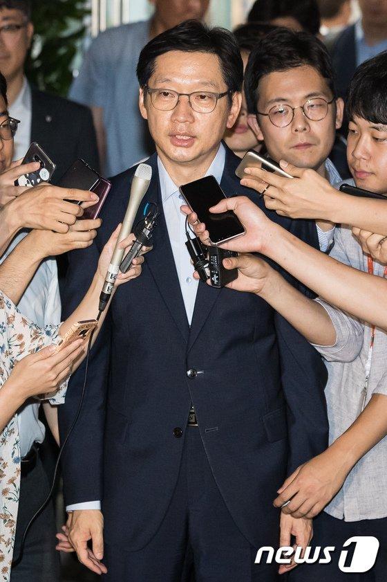 [사진]지친 표정의 김경수 경남지사