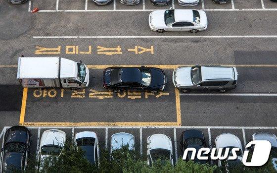 [사진]'소방차 전용구역 주차, 절대 안돼'