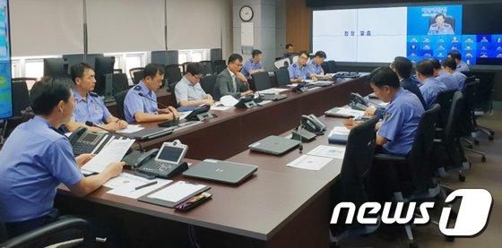 [사진]조현배 해양경찰청장, 태풍 대비 전국 지휘관회의 주재