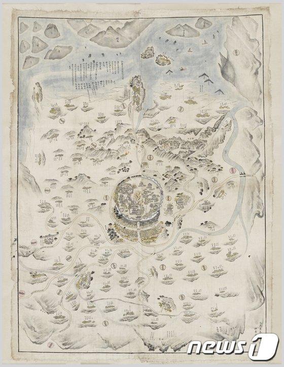 [사진]19세기 전라도 무장현 지도