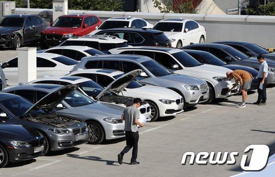 [사진]분주한 BMW서비스센터