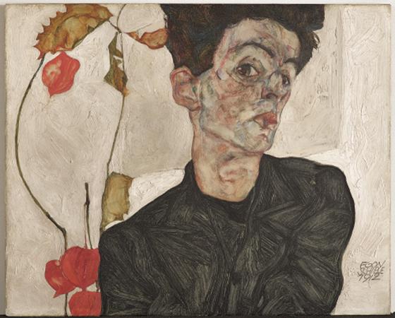 에곤 실레 '꽈리 열매가 있는 자화상' /사진제공=루이 비통