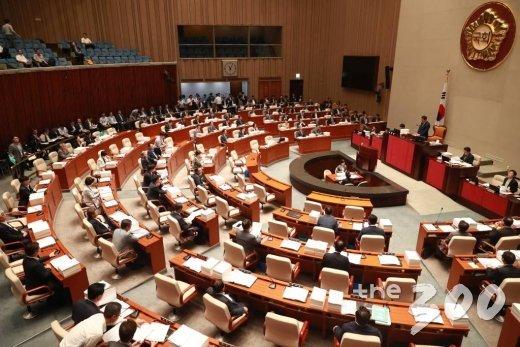 21일 오전 서울 여의도 국회에서 예산결산특별위원회 전체회의가 진행되고 있다.