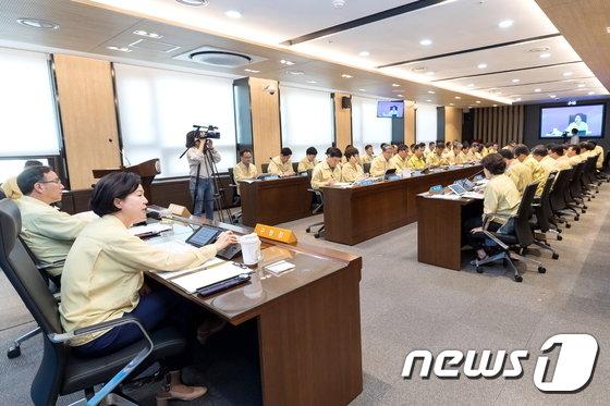 [사진]양천구 '태풍 솔릭 북상 대책회의'