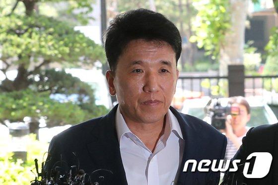 'KEB 하나은행 채용비리'에 관여한 혐의를 받는 함영주 하나은행장./뉴스1 © News1 임세영 기자