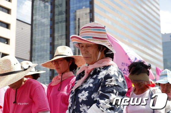 [사진]광화문에 모인 여성농민들