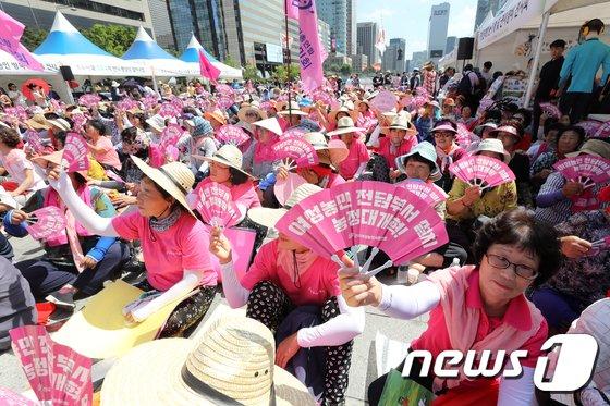 [사진]전국여성농민대회 '여성농민 전담부서 설치하라'