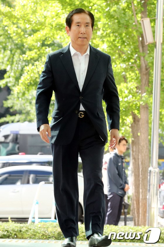 [사진]경찰청 출석하는 조현오 전 청장