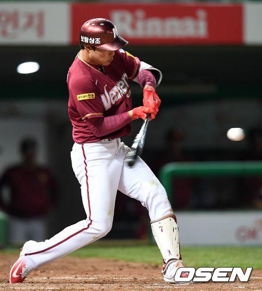 홈런과 2루타 2개의 장타를 터뜨린 김하성.