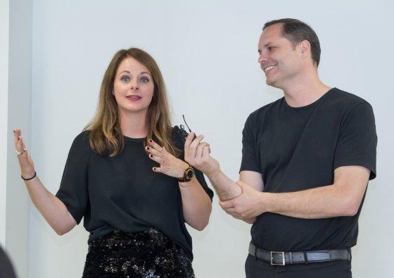 삼성전자 유럽디자인연구소의 펠릭스 헤크 소장(오른쪽)과 까밀 해머러 트렌드랩장. /사진제공=삼성전자