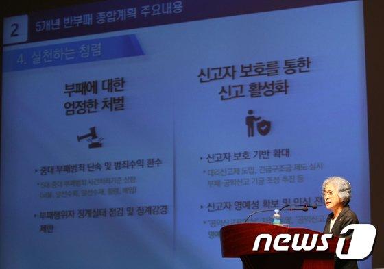 [사진]박은정 권익위원장 '세계 20위권 청렴국가 도약, 반부패정책 추진방향'