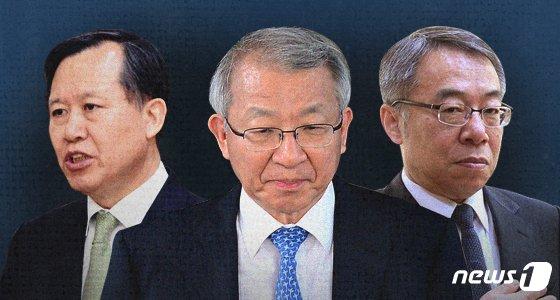 사법농단 의혹에 연루된 박병대 전 법원행정처장(전 대법관)과 양승태 전 대법원장, 임종헌 전 법원행정처 차장.(왼쪽부터) © News1 최수아 디자이너