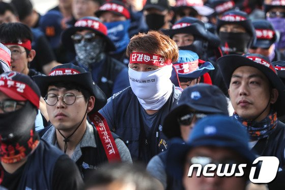 [사진]철강업종 임단협 타결 촉구 공동 투쟁 집회