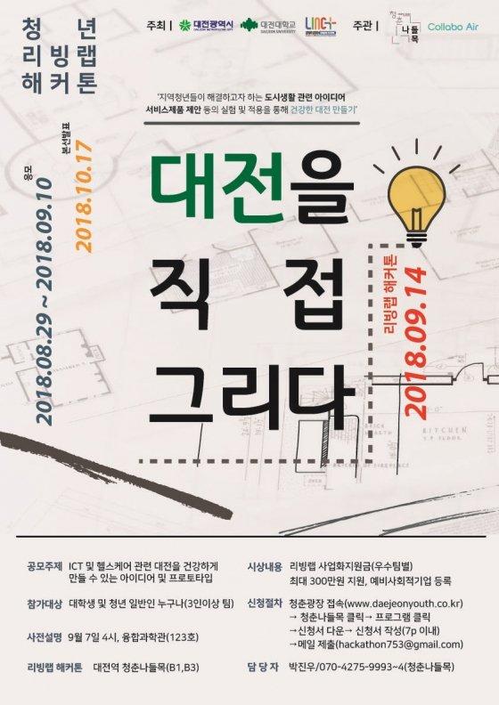 대전대, '2018 리빙랩 해커톤, 대전을 직접 그리다' 행사 실시