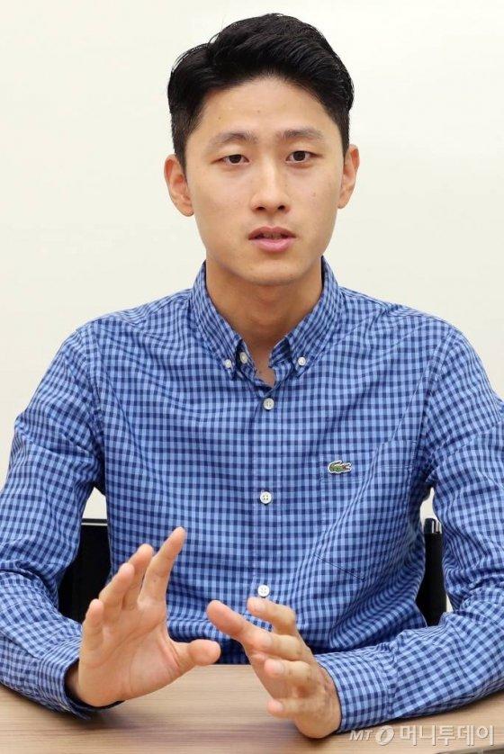 지앤이바이오텍 장영민 대표 /사진=김휘선 기자