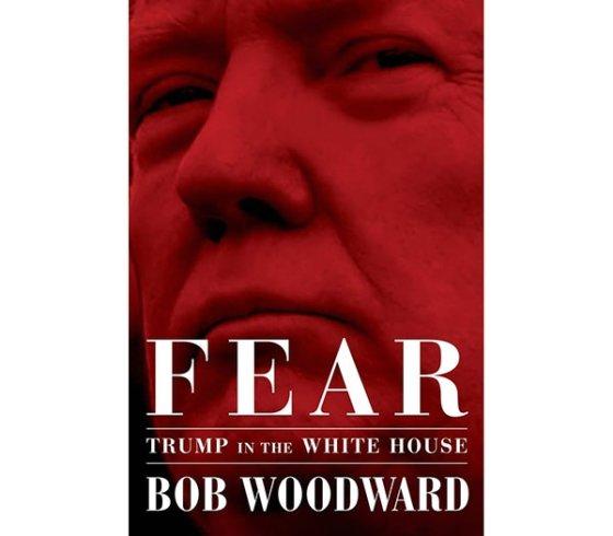 밥 우드워드가 쓴 책 '공포: 백악관의 트럼프'(Fear:Trump in the White House) 표지.