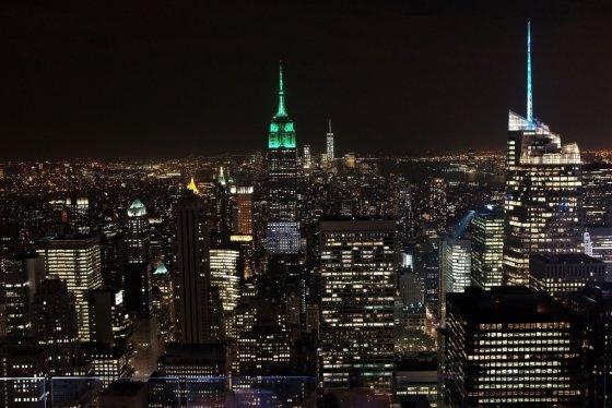 5월 5일 맨하탄 스카이뷰와 뉴욕시 야경<br>/AFPBBNews=뉴스1