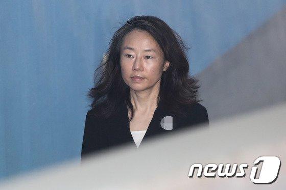 조윤선 전 문화체육관광부 장관. 2018.7.20/뉴스1 © News1 성동훈 기자