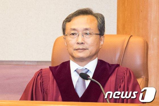 유남석 헌법재판소장 후보자. 2018.8.30/뉴스1 © News1 유승관 기자