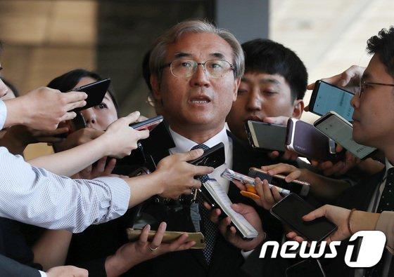 [사진]검찰, 이민걸 전 법원행정처 기조실장 소환조사