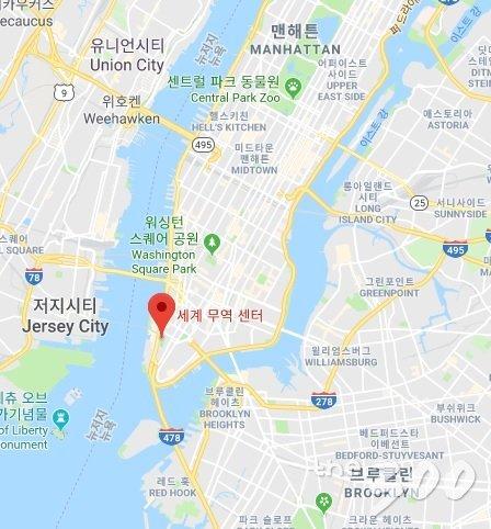 뉴욕 맨해튼과 그라운드제로 위치/구글맵