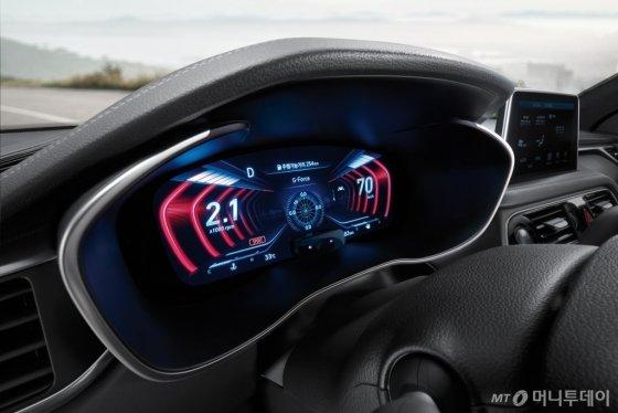 '2019년형 G70'에 세계 최초로 장착된 12.3인치 3D 클러스터/사진제공=제네시스