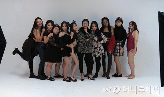 사이즈 차별 없는 패션쇼 '내일 입을 옷'에 설 모델들의 모습. /사진=강선미 기자