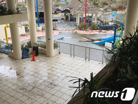 25일(현지시간) 제26호 태풍 '위투'가 강타한 사이판 피해 현장. /사진=ruas1701_ 인스타그램(뉴스1)