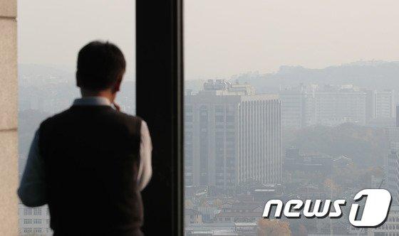 [사진]미세먼지...'내일 더 심해진다'