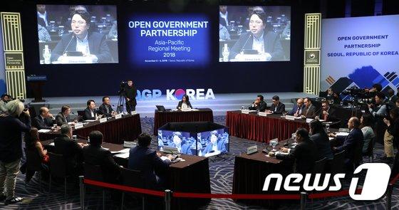 [사진]열린 정부 파트너십, 아태지역회의 고위급 라운드테이블