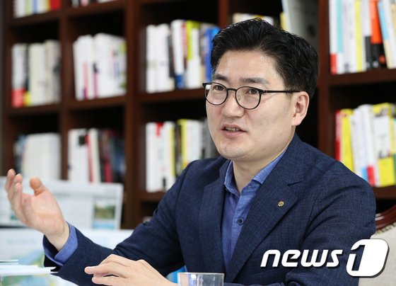 이정훈 강동구청장. 2018.8.7/뉴스1 © News1 신웅수 기자