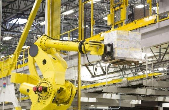 아마존 배송센터의 로봇 모습. /AFPBBNews=뉴스1