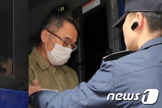 사법행정권 남용 의혹의 핵심인물인 임종헌 전 법원행정처 차장. 2018.10.28/뉴스1 © News1 안은나 기자